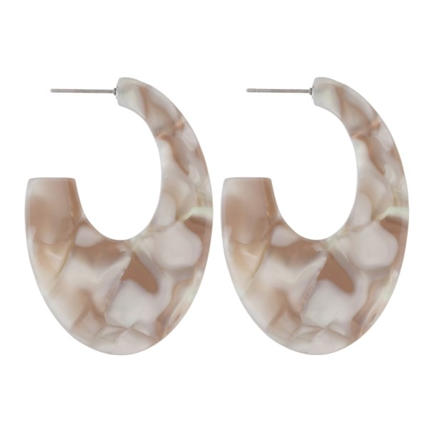 """Long acetate earring. Approximately 2.5"""" in length."""