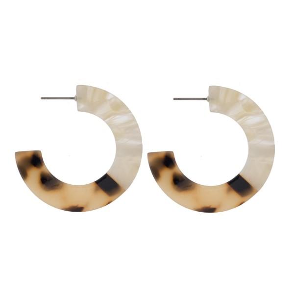 """Acetate hoop earring. Approximately 1.5"""" in diameter."""