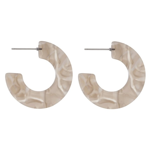 """Acetate hoop earring. Approximately 1"""" in diameter."""