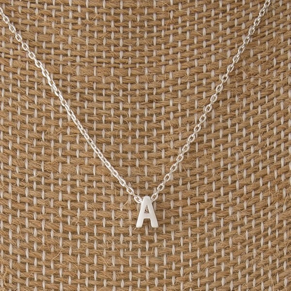"""Dainty necklace with initial charm. Approximately 16"""" in length with a 1/4"""" letter charm."""