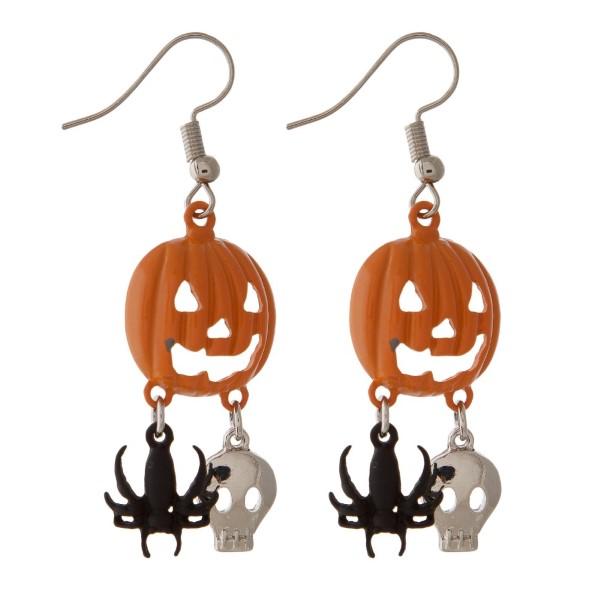 "Fishhook Halloween themed earring. Approximately 1"" in length."