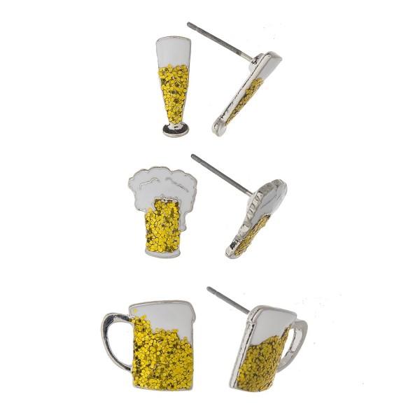 Beer mug earring set.