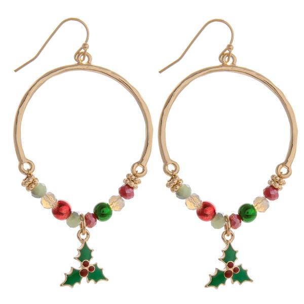 Wholesale hurry grab gorgeous Christmas hoop earrings pendant wont last long App