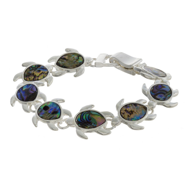 "Gorgeous wrap  bracelet with sea details. Approximate 8"" in length."