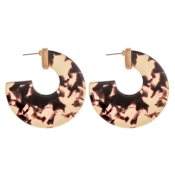 """Long solid earrings with multi colors. Approximate 2"""" in diameter."""
