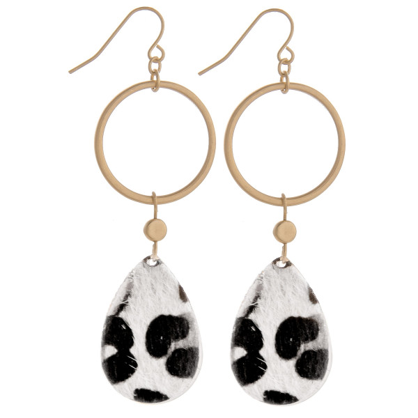 Wholesale gorgeous hoop teardrop animal print earrings Approximate