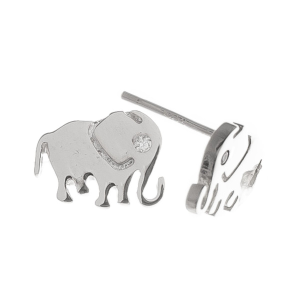 Gorgeous gold metal stud elephant earrings. Approximate 5mm.