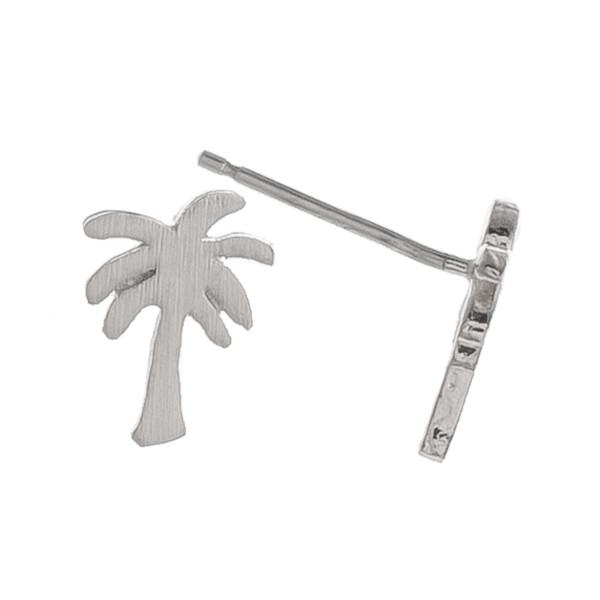 Gorgeous metal earring with tropical trees stud. Approximate 5mm.