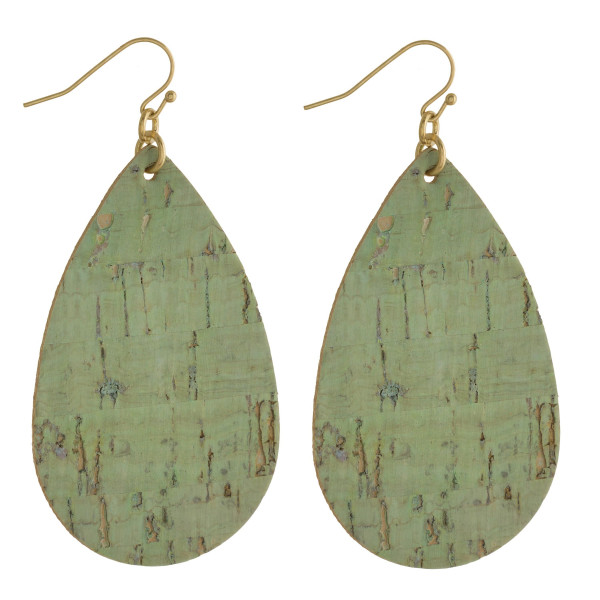 """Fishhook drop earrings. Approximate 3"""" in length."""