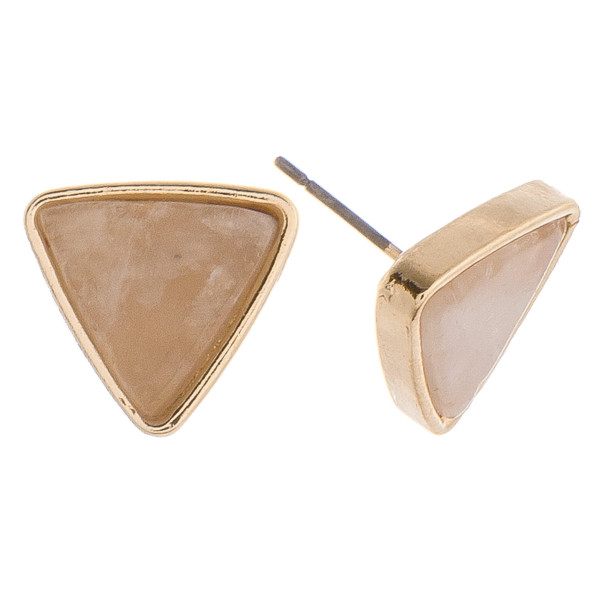 "Stud natural stone earrings. Approximate 1.50""cm."
