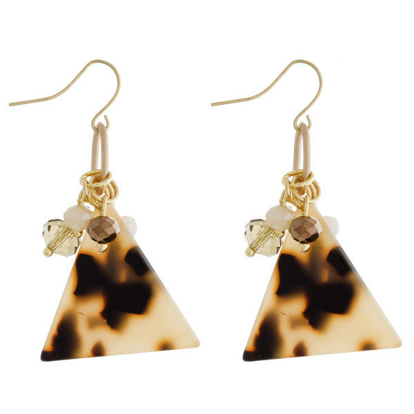 """Long acetate triangle earrings. Approximate 1.5"""" in length."""