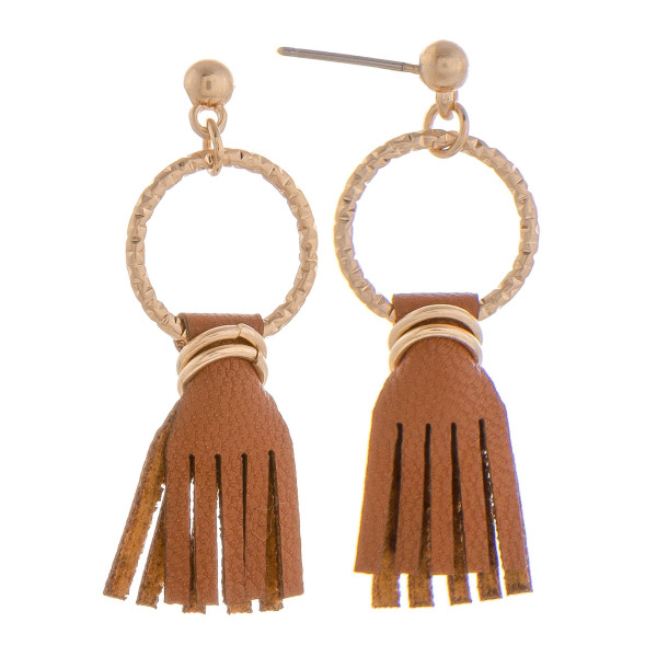 """Short leather tassel. Approximate 1"""" in length."""