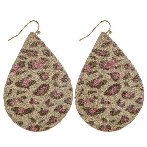 "Grab these gorgeous fishhook glitter drop earring. Approximate 2.5"" in length."