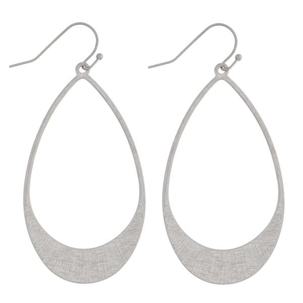 """Long metal teardrop earrings. Approximately 2"""" in length."""