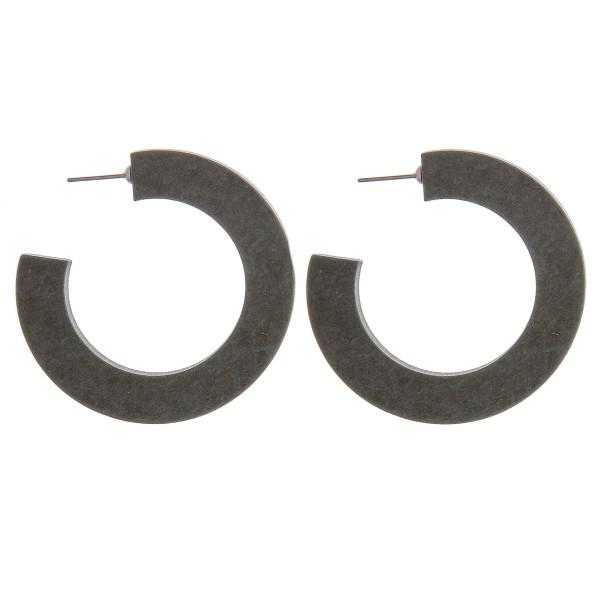 Wholesale open hoop wood inspired earrings stud post