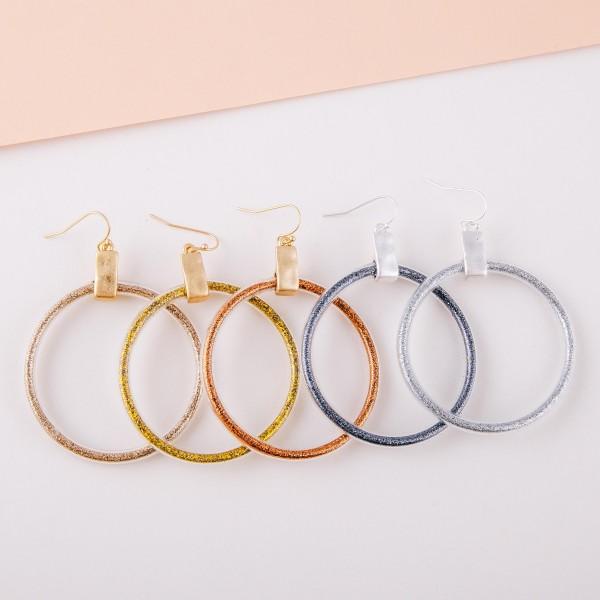 "Glitter jelly drop earrings.  - Approximately 3"" in length - Approximately 2"" in diameter"