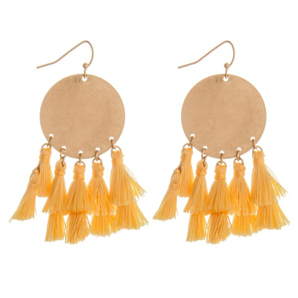 "Fringe tassel bohemian dangle earrings.  - Approximately 2.5"" in length"