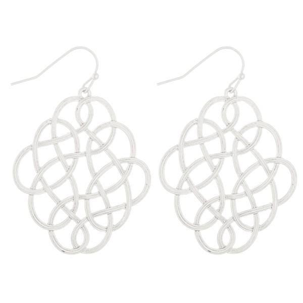 "Loopy metal drop earrings.  - Approximately 2"" L"
