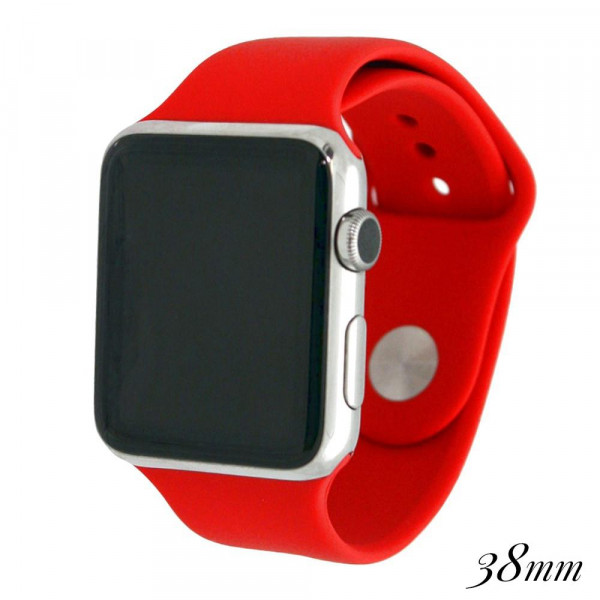 Wholesale solid red silicone watch band smart watches Fits mm smart watch WATCH