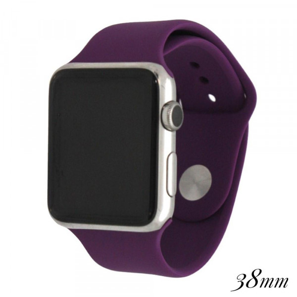 Wholesale solid purple silicone watch band smart watches Fits mm smart watch WAT