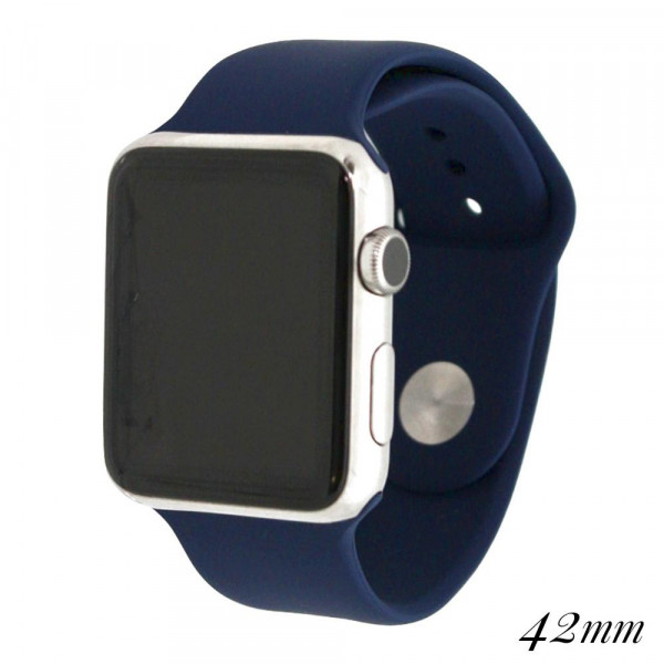 Wholesale solid navy silicone watch band smart watches Fits mm smart watch WATCH