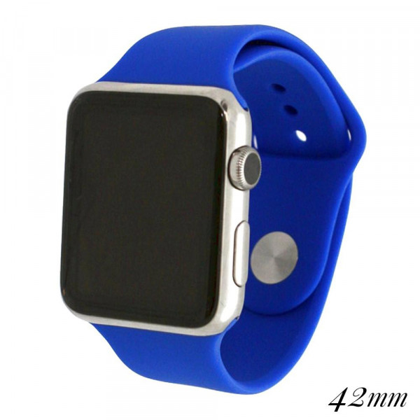 Wholesale solid royal silicone watch band smart watches Fits mm smart watch WATC