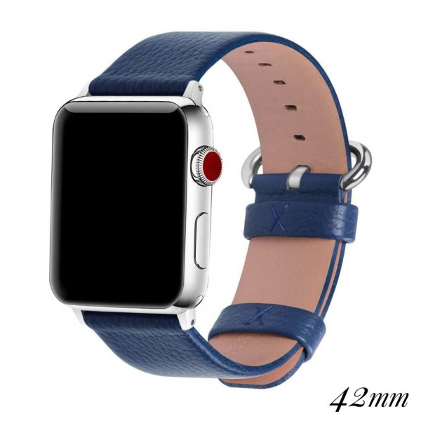 """Interchangeable faux leather band for smart watches. WATCH NOT INCLUDED. Approximately 9.75"""" in length.  - 42mm - Adjustable closure"""