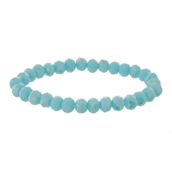 Wholesale dainty faceted bead stretch bracelet