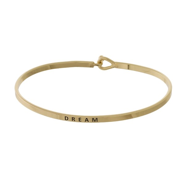 Wholesale metal bracelet engraved message Dream