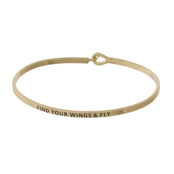 Wholesale metal bracelet engraved message Find Wings Fly