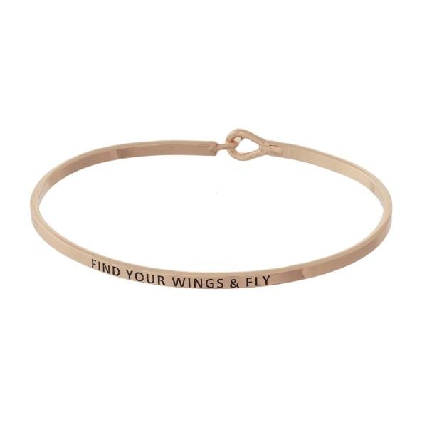 Wholesale metal bracelet engraved message Find Wings Fly
