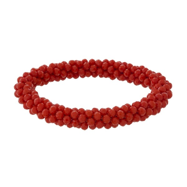 Wholesale coral beaded stretch bracelet diameter Fits up wrist