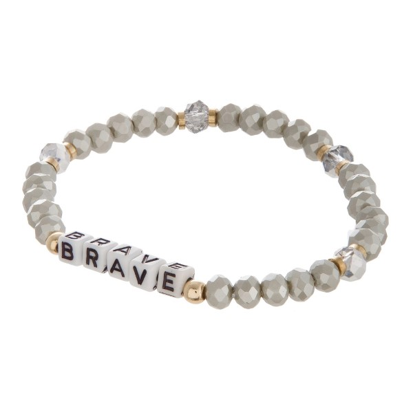 Wholesale stretch bracelet encouraging message