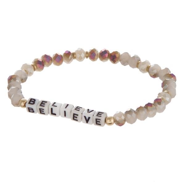 Wholesale stretch bracelet encouraging message