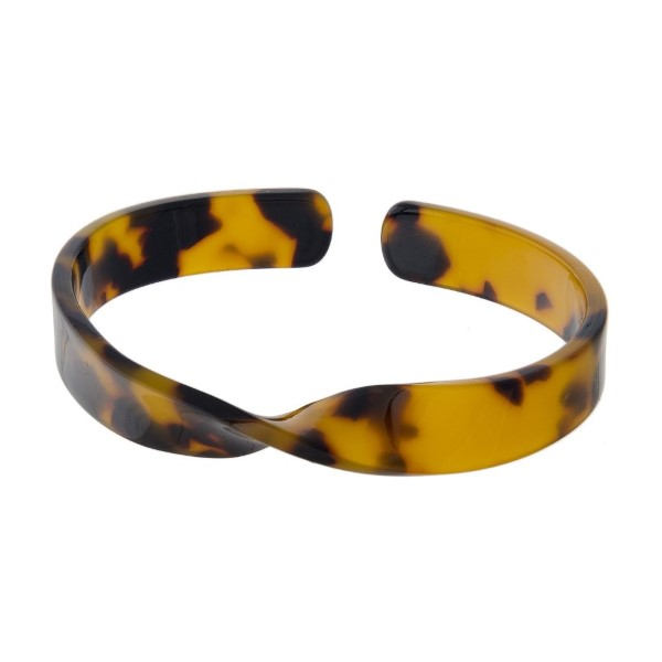 Twisted acetate bracelet.