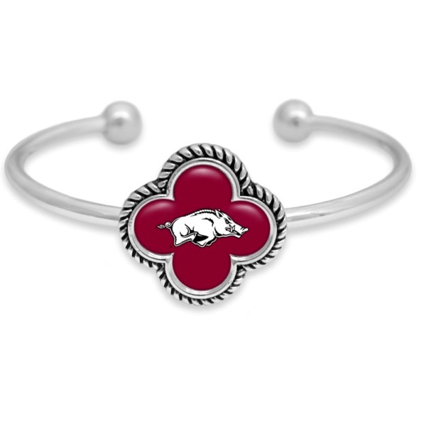 Wholesale officially licensed silver cuff bracelet university logo