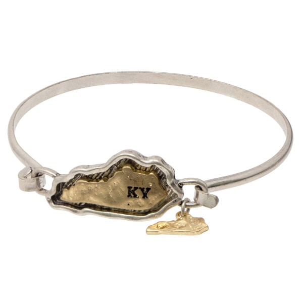 Metal bracelet with state focal.
