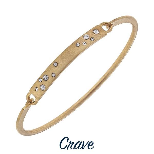 Metal bracelet with metal focal.
