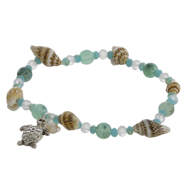 """Gorgeous bracelets with with charms and sea shells. Approximate 8"""" in length."""