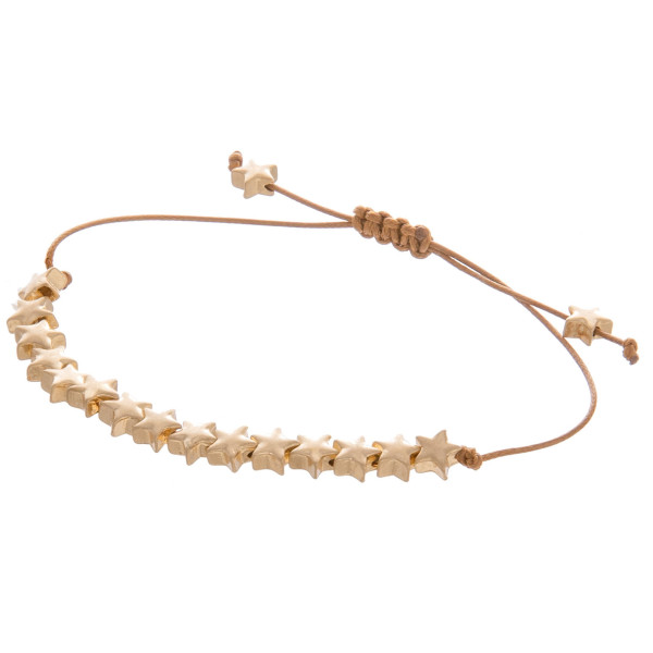 """Enjoy this corded gorgeous star pendant bracelet. Great with everyday wear. Approximate 10"""" in length"""