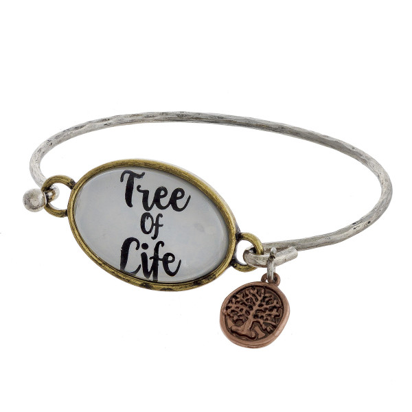 Wholesale cuff bracelet charm message Tree Life Approximate diameter