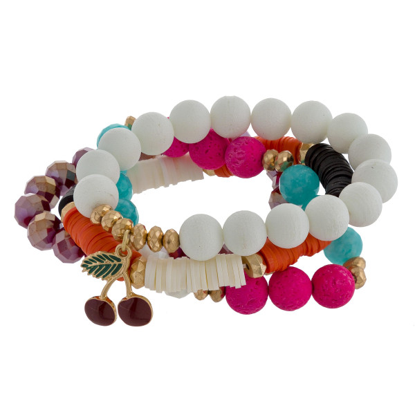 """Multi strand bracelet with beads. Approximate 6"""" in length."""