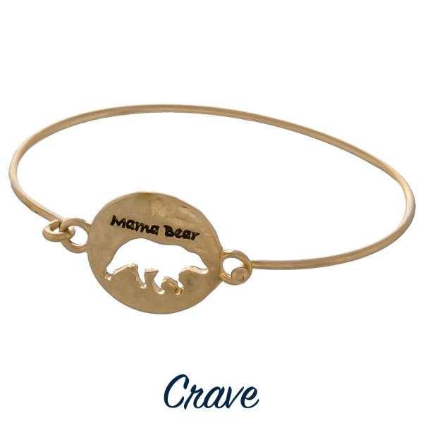 Wholesale gorgeous Mama Bear bracelet Mama bear cut out Approximate diameter