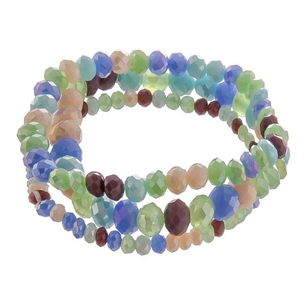 "Multi strand beaded bracelet. Approximate 6"" in length."