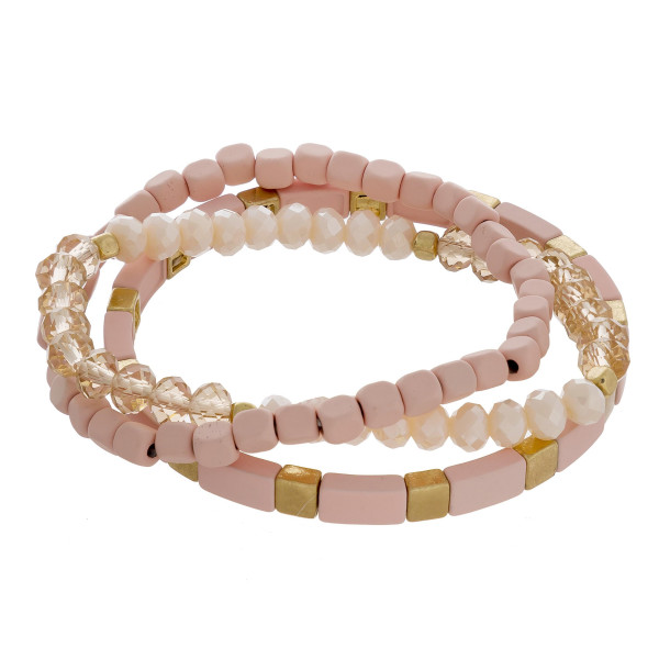 """Metal and acetate multi bracelet mix. Approximate 7"""" in length."""