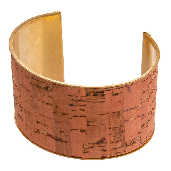 """Metal cork inspired cuff bracelet. Approximately 1.5"""" wide. Approximately 3"""" in diameter, fits up to a 6"""" wrist."""