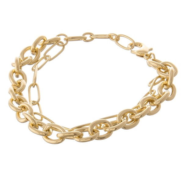 """Hera link cable chain link bracelet.  - Lobster clasp - Adjustable 1"""" extender - Approximately 3"""" in diameter - Fits up to an 8"""" extender"""