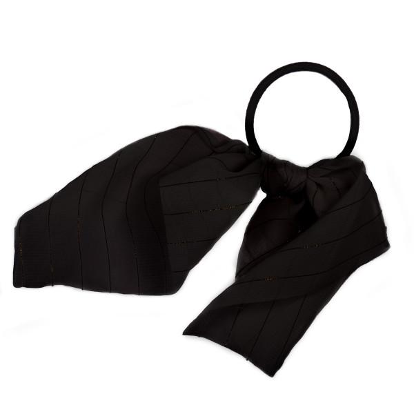 Black gold stripe scrunchie.