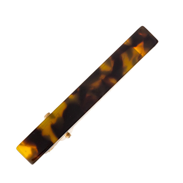 """Hair clip featuring resin inspired details. Approximately 2"""" in length."""
