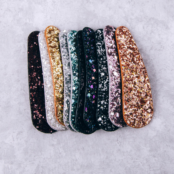 "Glitter hair clip. Approximately 3"" in length."